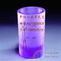 深圳高档水晶笔筒水晶内雕纪念品