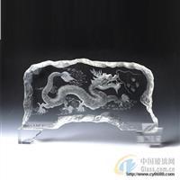 水晶影像K9料压型水晶雪山异形