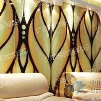 艺术玻璃冰晶画让居室床头更惊艳