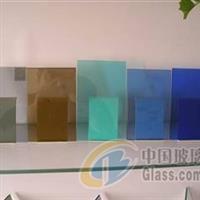 批量供应4-6有色玻璃镀膜蓝色