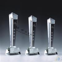小五角星水晶奖杯,深圳现货奖杯