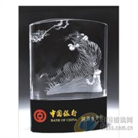 银行纪念奖杯,深圳水晶奖杯