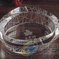 鸟巢烟灰缸,深圳水晶内雕烟灰缸