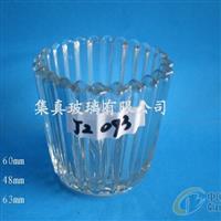 竖纹玻璃杯,条纹玻璃杯,蜡烛杯