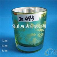 电镀喷色丝印玻璃杯玻璃工艺品