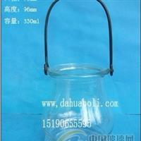 330ml玻璃烛台,玻璃水培吊瓶 工艺烛台