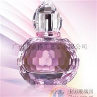 水晶盖玻璃香水瓶
