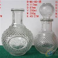 高白料酒瓶 菠萝酒瓶 玻璃瓶