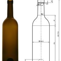 棕色红酒瓶
