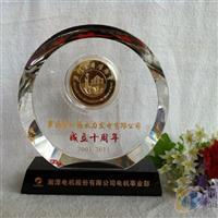 水晶周年庆纪念品公司周年庆奖牌