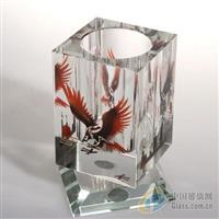 K9水晶料笔筒水晶影像办公用品