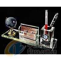 K9料水晶商务礼品笔筒三件套