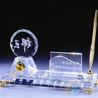 高档水晶礼品 水晶办公用品定做
