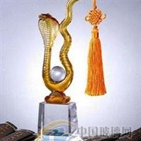 能屈能伸蛇,蛇摆件水晶