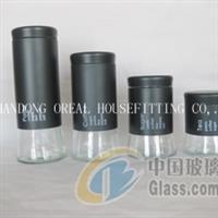 1087大底不锈钢套皮玻璃罐