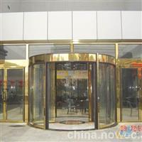 杭州玫瑰金 黑钛金玻璃门安装