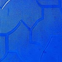 广东压花玻璃-蓝色七巧板