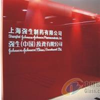 广州天河聚晶烤漆玻璃形象墙安装