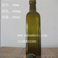 500ml棕色方橄榄油瓶,高质量油瓶,配套瓶盖
