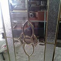 橱柜铜条玻璃