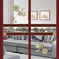 沙河艺术玻璃 内雕玻璃 移门 阳台门
