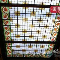 设计教堂镶嵌玻璃穹顶彩色蒂凡尼镶嵌玻璃
