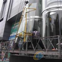 安装更换热弯玻璃观光电梯玻璃