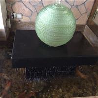 叠层流水风水玻璃球