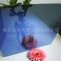 供应6mm宝石蓝镀膜玻璃
