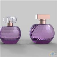 半圆香水瓶 蜂窝刻面玻璃香水瓶