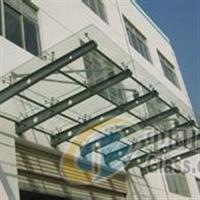 专业安装夹胶玻璃钢化玻璃雨棚