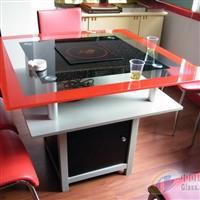 玻璃火锅桌印花产品
