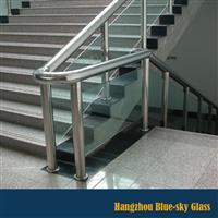 12mm白玻钢化楼梯护栏玻璃厂