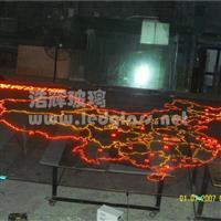 LED发光玻璃 中国地图 光电玻璃厂