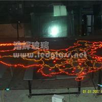 LED发光玻璃 中国地图 光电玻璃
