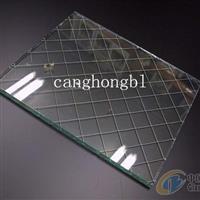 透明夹丝钢化玻璃价格