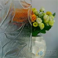 供应压花玻璃-5mm枫叶3号钢化级