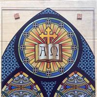 国外教堂彩釉玻璃