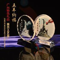 广州水晶玻璃彩像摆件 水晶相框