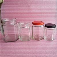 厂家各种容量六棱蜂蜜瓶