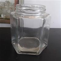 供应玻璃瓶六棱蜂蜜瓶