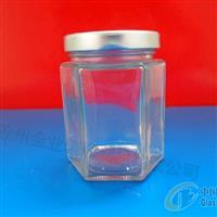 供应玻璃瓶六棱蜂蜜瓶厂