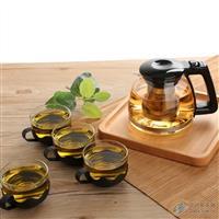 耐热泡茶玻璃壶耐热带滤网
