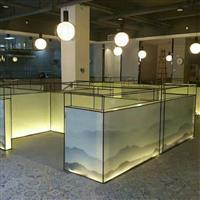 山水画夹胶玻璃