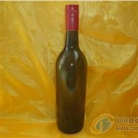 墨绿红酒瓶胶冒木塞酒瓶