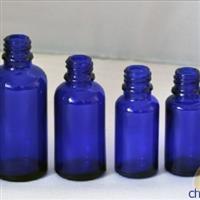 蓝色玻璃瓶、化妆品瓶