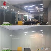 高等办公室调光玻璃隔断 电控雾化玻璃 投影玻璃