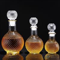 空酒瓶醒酒器透明玻璃瓶1斤装酒瓶厂