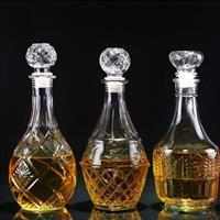 空酒瓶醒酒器透明玻璃瓶1斤装酒瓶