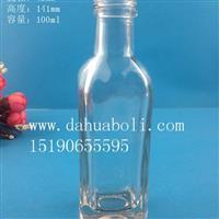 厂家直销100ml方形橄榄油玻璃瓶